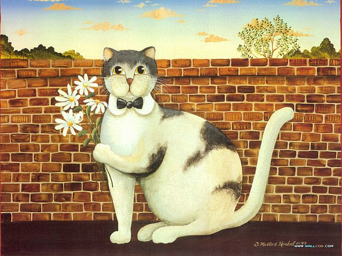 Cat Paintings Donna Masters Kriebel Vol Funny Cats