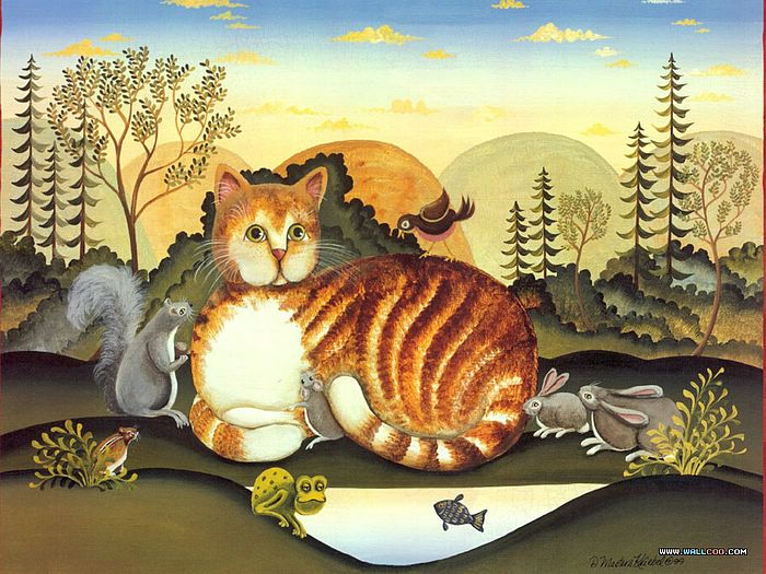 Cat Paintings by Donna Masters Kriebel (Vol.1) - Funny Cats - Cat Paintings by Donna Masters Kriebel 6