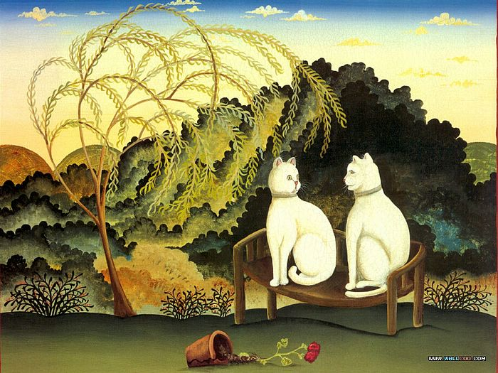 Cat Paintings by Donna Masters Kriebel (Vol.1) - Funny Cats - Cat Paintings by Donna Masters Kriebel 7