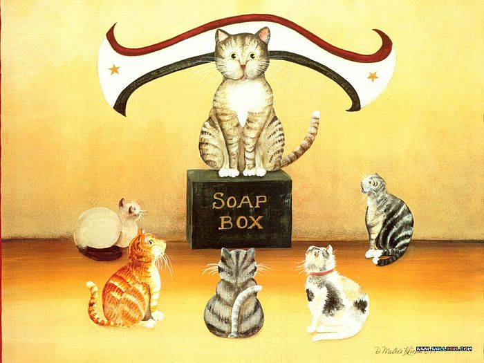 Cat Paintings by Donna Masters Kriebel (Vol.1) - Funny Cats - Cat Paintings by Donna Masters Kriebel 2
