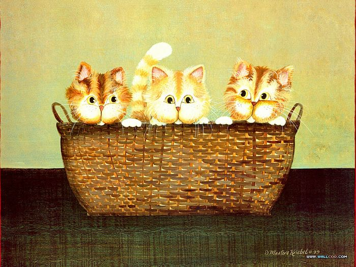 Cat Paintings by Donna Masters Kriebel (Vol.1) - Funny Cats - Cat Paintings by Donna Masters Kriebel 9