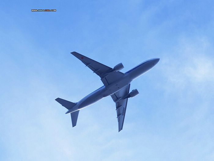 blue sky wallpaper. Airplane in Blue Sky