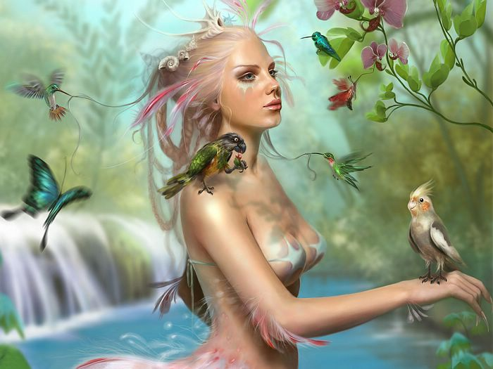 wallpaper widescreen fantasy. Fantasy CG Girls Wallpapers by