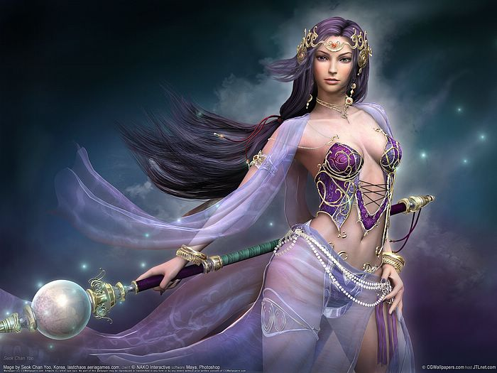 fantasy art wallpaper. Fantasy CG Girls Wallpapers