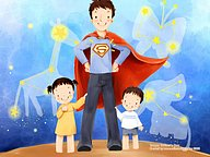 Lovely Children''s illustration for Father''s Day16 pics
