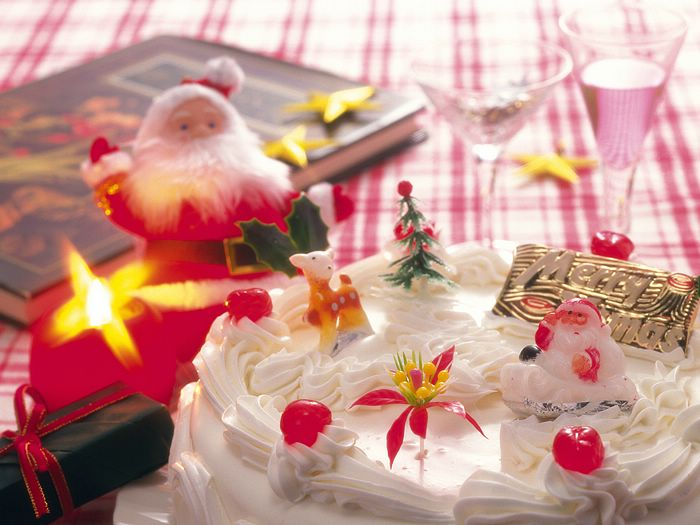 Christmas Figures & Decorations 1680x1050 - 1600x1200 Christmas Cake photo - Christmas Food Wallpaper 7