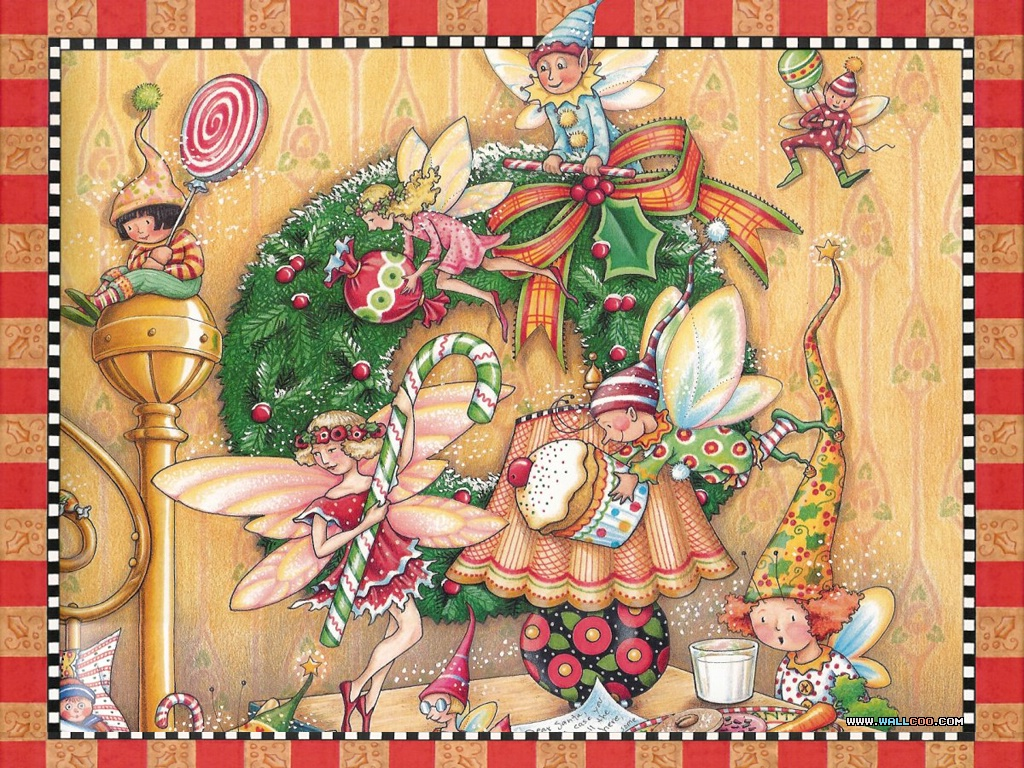 Wallpapers Of The Night Before Christmas Illustration 1024768 NO30 Wallpaper