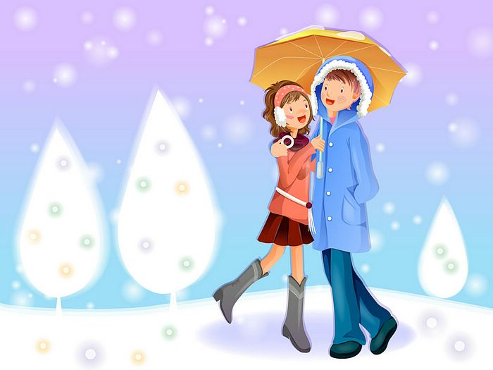 romantic wallpapers of lovers. Christmas Lovers Wallpaper