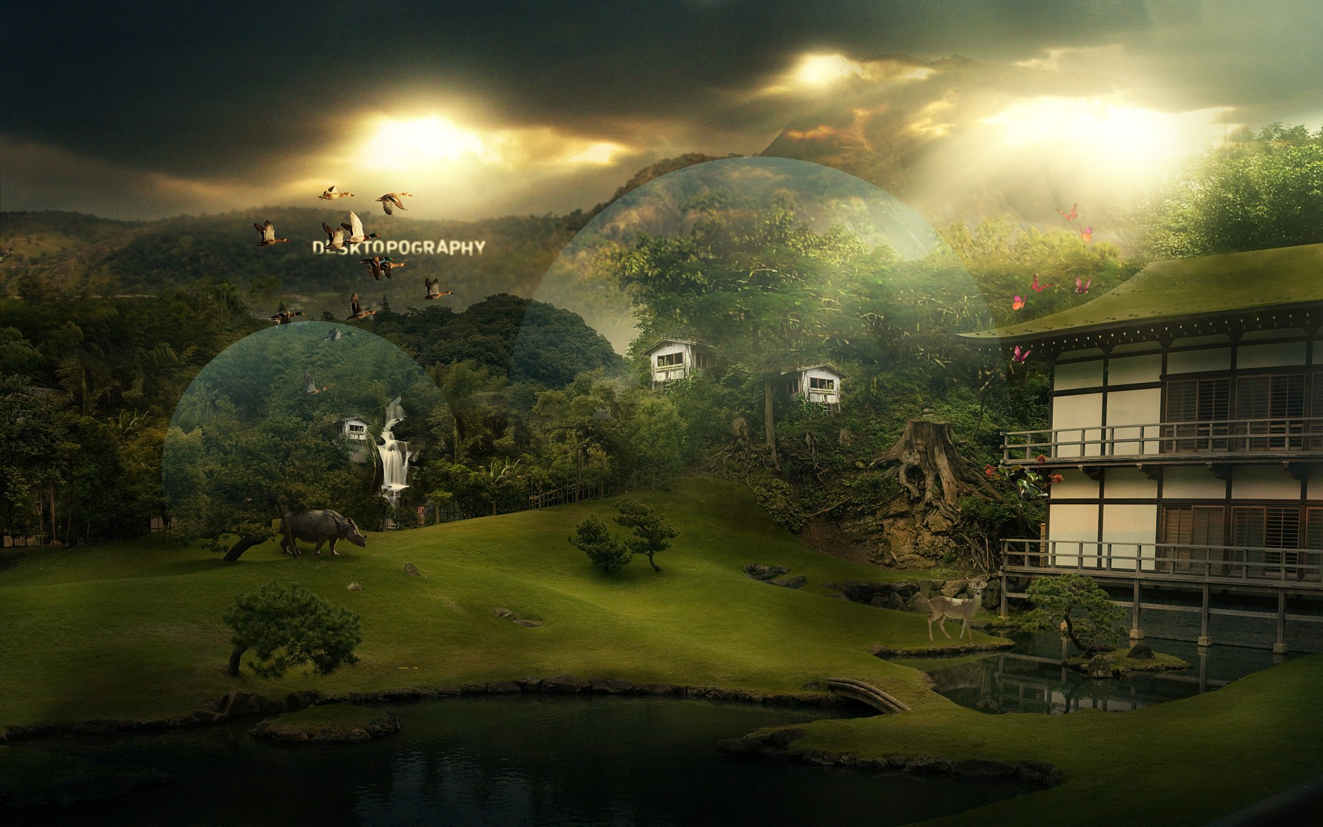 1920 1200 digital photomanipulation fantasy landscape wallpapers 1920