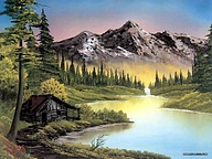 Bob Ross Landscape Oil Paintings29 pics