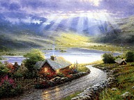 Painter of Light : Thomas Kinkade Heartwarming Paintings 51 pics