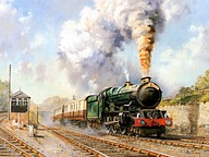 Art Train Journeys : Steam Train Painting by Howard Fogg48 pics