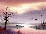 The Dreamland - Water Colour Landscape Paintings50 pics