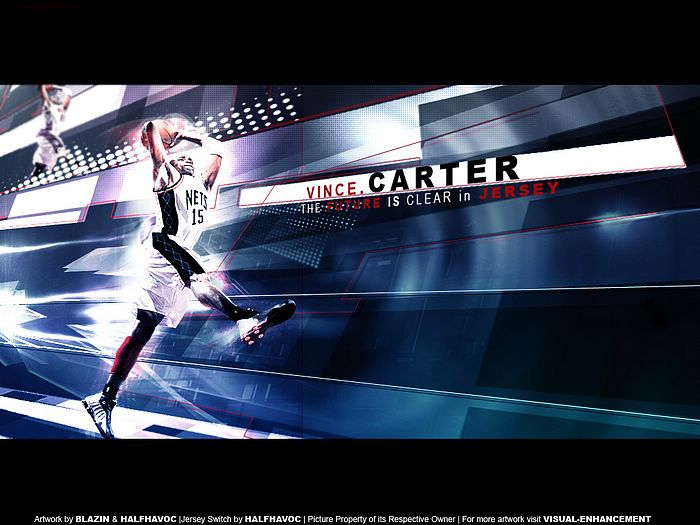 vince carter wallpapers. NBA Nets Vince Carter