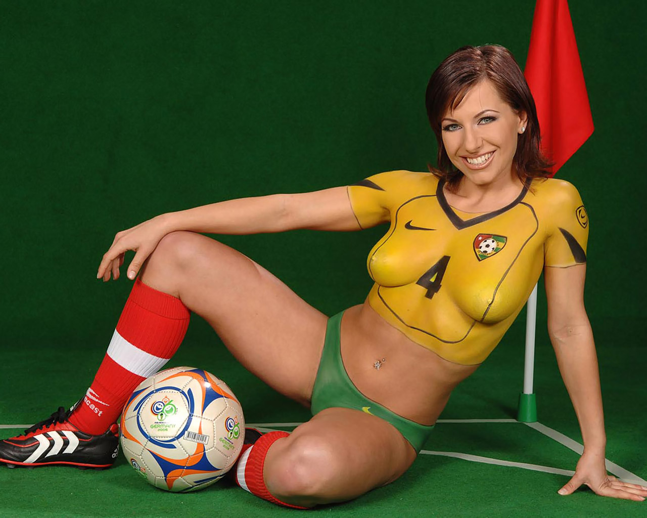 World Cup 2006 - Body Painting Jersey 1280x1024 NO.29 Desktop ...